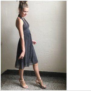 Diane Von Furstenberg Anais Silk Star Halter Dress